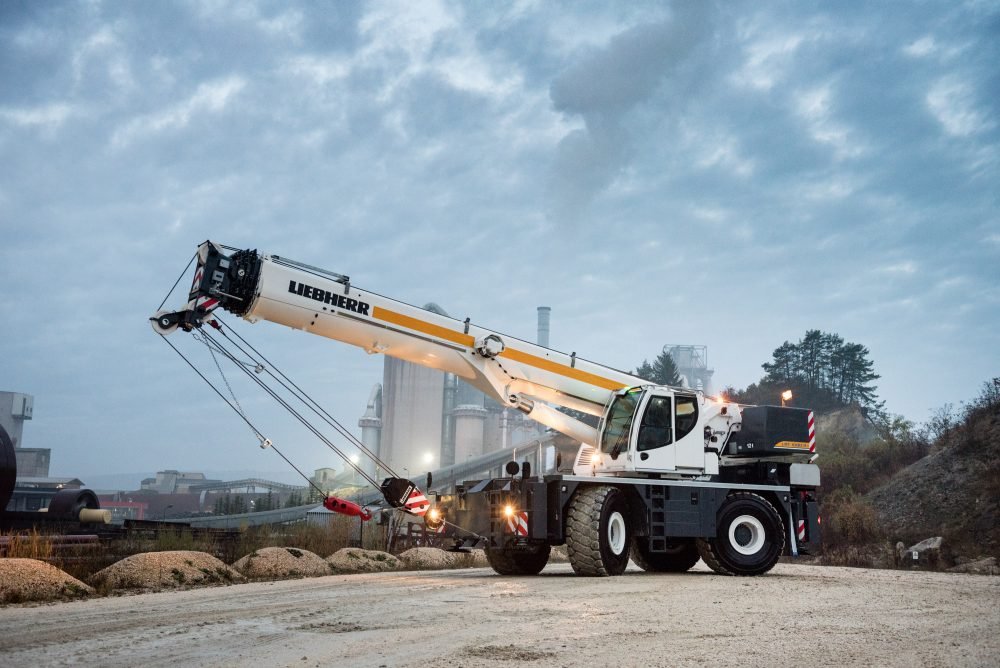 The new Liebherr rough-terrain cranes are designed for high capacity and safety.