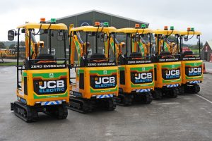 JCB wins a major order for their new electric mini excavator from A-Plant