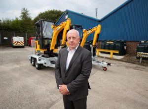 Electricity North West Technical director Steve Cox with the new JCB electric diggers. Picture by Paul Currie www.paulcurrie.co.uk