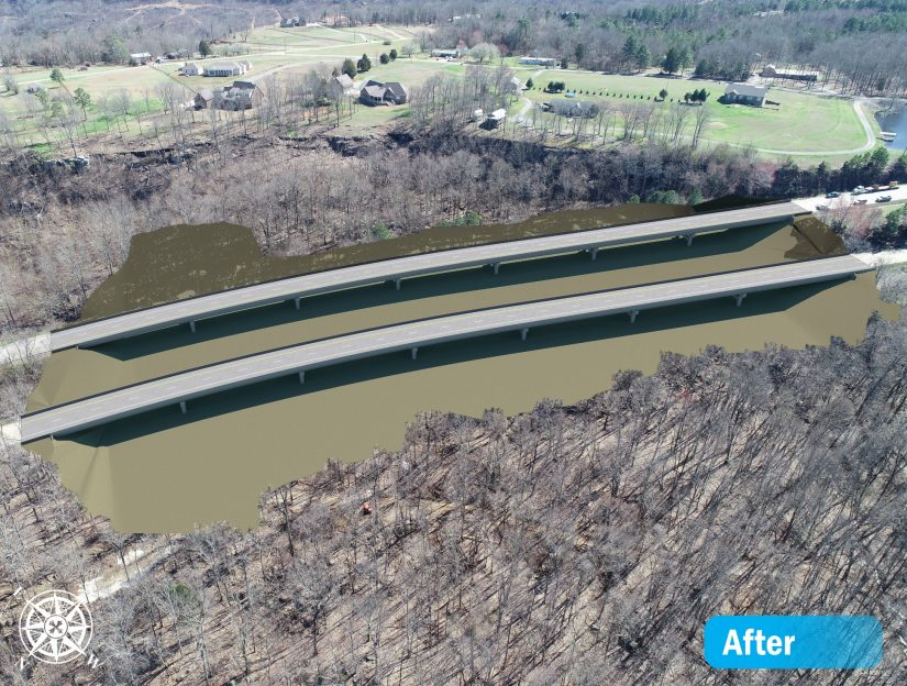 rendered image of replacement bridges on US 231 near huntsville