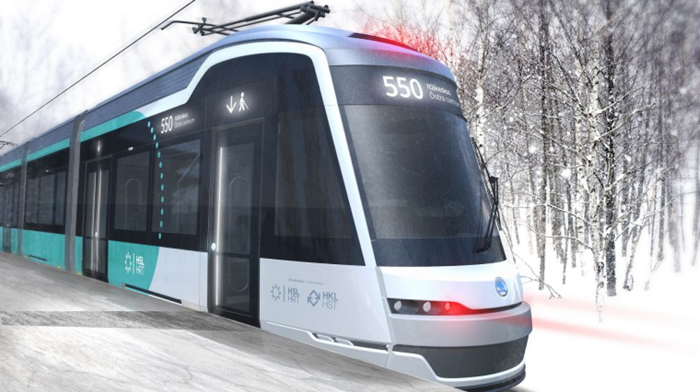 The Raide-Jokeri line will be operated by low floor trams. Visualisation: HSL / IDIS Design Oy