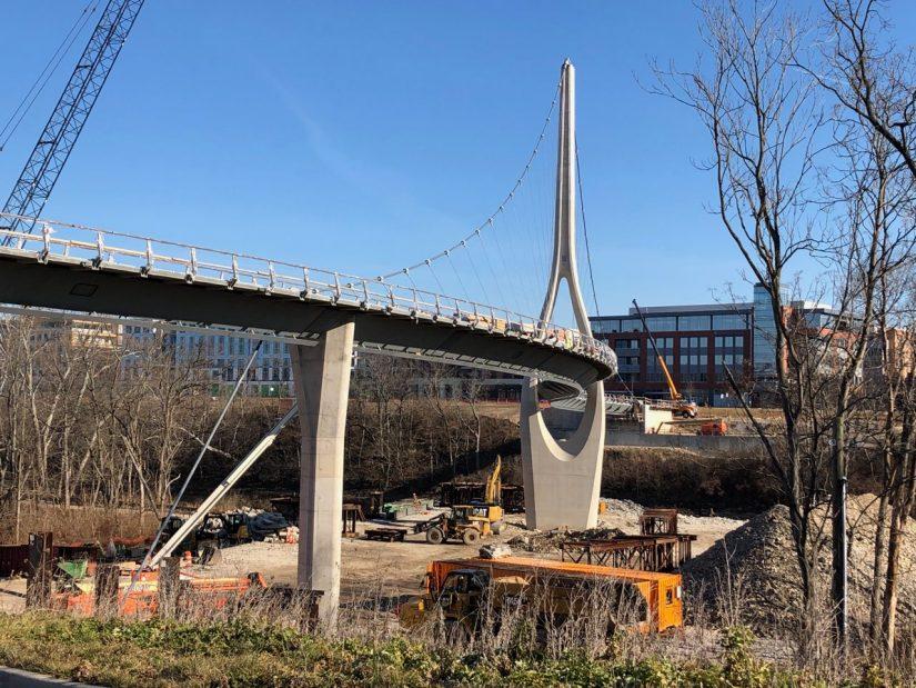 Dublin Link bridge under construction