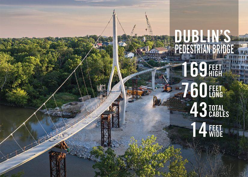 Dublin, Ohio's s-shaped pedestrian bridge